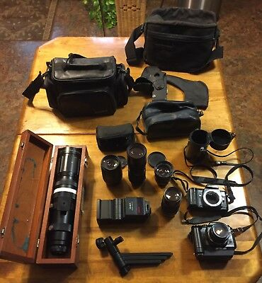 Cameras, Camera Lenses, and Camera Accessory Package