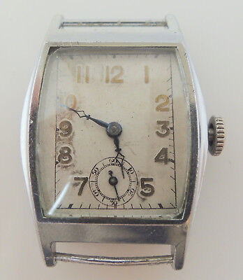 Vintage art deco style wristwatch mechaincal gents spares and repairs