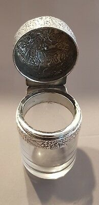 Silver Mounted Glass Dressing Table Bottle - London 1890 by Charles Boyton
