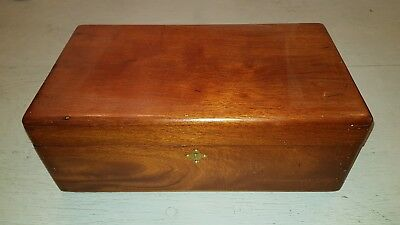 Antique Wood writing Box with candle compartment
