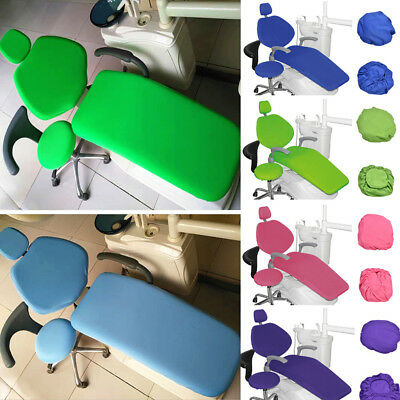 Dental Unit Chair Cover Pu Dentist Chair Stool Seat Cover Waterproof 1Set In UK
