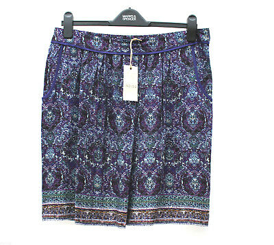 """Excellent Quality Multi Fully Lined Skirt Ex-M/&S Length 30/""""   UK  16"""