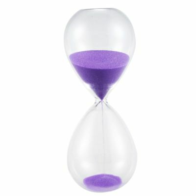 Large Fashion Colorful Sand Glass Sandglass Hourglass Timer Clear Smooth G M3A4
