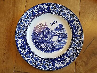 3 X Olde Alton Ware Blue And White Dinner Plates