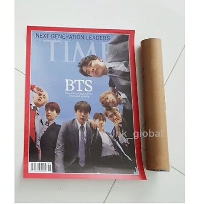Bts Time Weekly Asian Limited Edition Cover October 2018 Unfolded Poster Tube