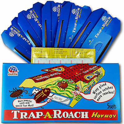 Hoy Hoy Trap-A-Roach Cockroach Insect Trap Box of 5 - Catches Oriental & German