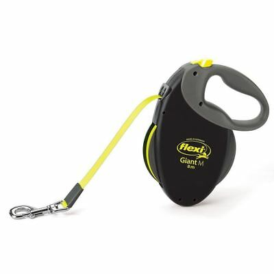 Flexi Giant Neon Tape Lead Medium Black (8m)