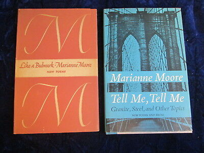 Two Marianne Moore poetry books Theodore Schocken gave to David (Rome?) 1966