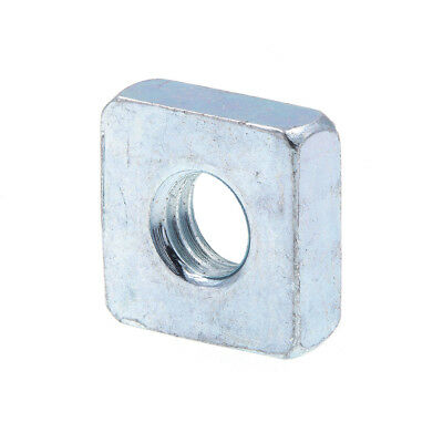 Square Nuts, #10-32, Zinc Plated., 10 pack