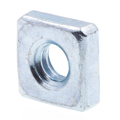 Square Nuts, #10-24, Zinc Plated., 10 pack