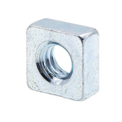 Square Nuts, 1/4 in-20, Zinc Plated., 25 pack