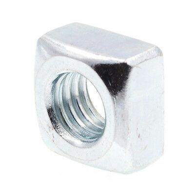"Square Nuts, 1/2""-13, Zinc Plated., 10 pack"