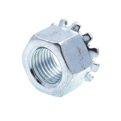K-Lock Nuts With External Tooth Washer, 3/8 in-24, Zinc Plated., 50 pack