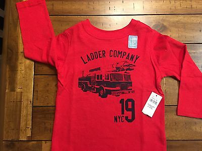 NWT Baby Gap T-SHIRT, Boy 18-24 mo, LADDER COMPANY NYC,*FIRE TRUCK Long sleeves