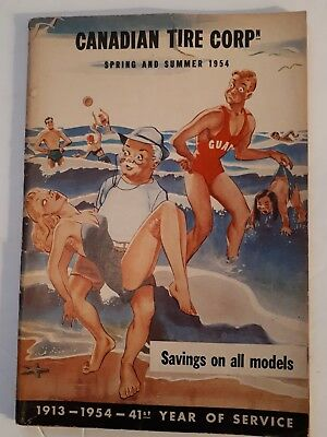 """Rare Canadian """"canadian Tire Corp. 1954 Spring & Summer Catalogue - Excellent"""