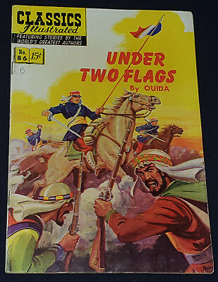 AUGUST, 1951 - UNDER TWO FLAGS - CLASSICS ILLUSTRATED COMIC No.86 - ORIGINAL