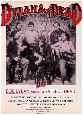 1987 Bob Dylan with The Grateful Dead Vintage Record Album  Print Advertisement