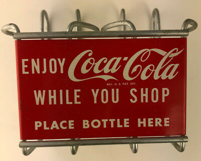 Vintage 1950s Coke Coca-Cola Shopping Cart Bottle Holder - Beautiful Original!