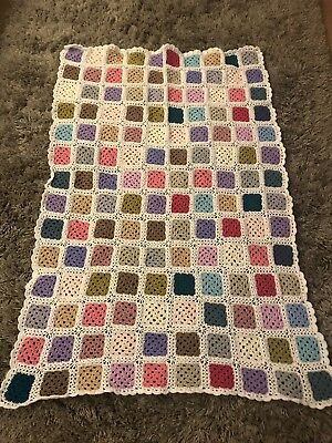 Handmade Crochet Blanket Throw