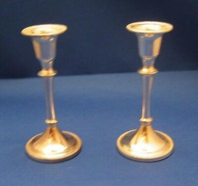 Pair of Matching Silver Plated Candlesticks