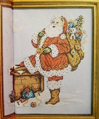'christmas Vintage Santa Sampler' Cross Stitch Chart By Shannon Wasilieff (Xp3)