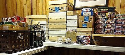 LARGE, OVER 30K BASEBALL CARD COLLECTION, UNOPENED MATERIAL, HOF LOADED, 50s-00s