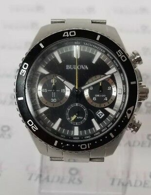 Bulova 98B298 Men's 45mm Stainless Steel High Frequency Quartz Chronograph Watch