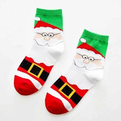 New Ladies Girls Santa Christmas Socks Green Festive Winter Gift Stocking Filler