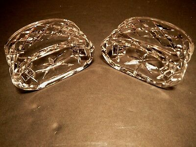 *VINTAGE* Waterford Crystal ALANA (1952-) Set of 2 Oval Napkin Rings 2 5/8""