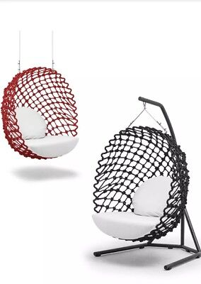 NEW RED Indoor/Outdoor DRAGNET SWING & Hanging Lounge CHAIR by Kenneth Cobonpue