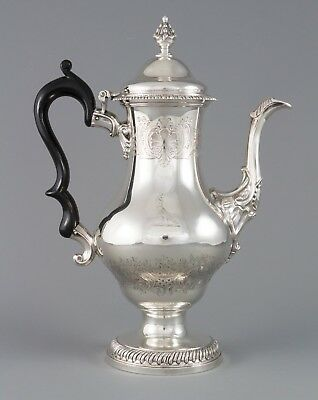 A Very Fine Georgian Silver Coffee Pot London 1768