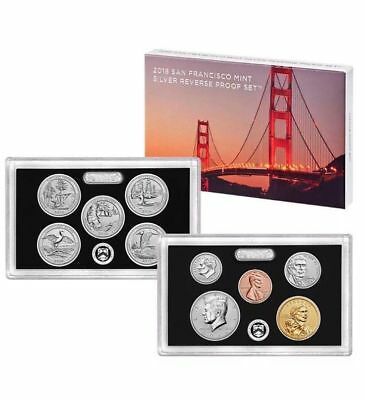 2018  San Fransico Mint Silver Reverse Proof Set ( Only 200,000 Minted)