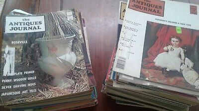 """""""THE ANTIQUES JOURNAL"""" MAGAZINE --95 ISSUES1968 TO 1978 Ships free!!"""