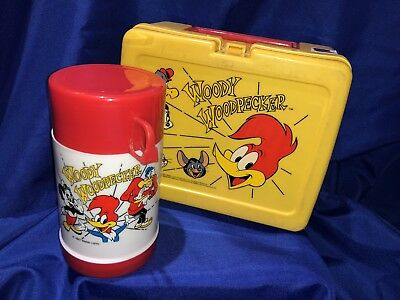 Vintage Woody Woodpecker Lunchbox W/Thermos,Collectors Set-Complete