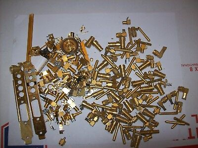 Over 1 lb Lot of Computer Connectors & Misc, For Scrap Gold / Brass Recovery