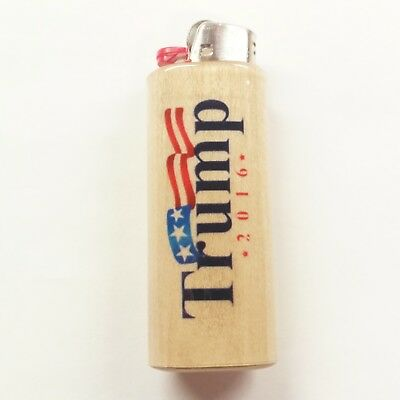 Donald Trump 2016 MAGA Lighter Case Holder Sleeve Cover Fits Bic Lighters