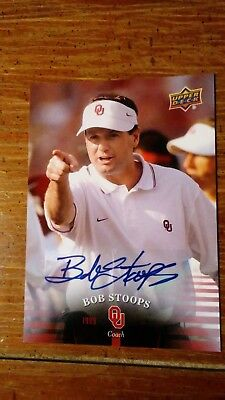 Bob Stoops - 2011 UD University of Oklahoma #79 AUTO - Awesome & Very RARE!!!