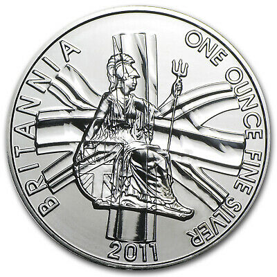 2011 Great Britain 1 oz Silver Britannia BU - SKU #60217