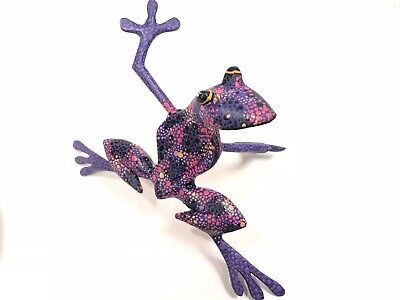 Frog Oaxacan Wood Carving Alebrije | Colorful Mexican Folk Art | Mexico C