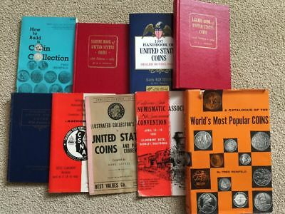 Lot of Older Coin Books  Red, Blue, Auction, Convention, etc.