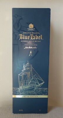 Rare! Johnnie Walker Blue Label Cruise Edition 1 Liter Empty Box / Case