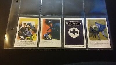 """1966 Macleans Toothpaste Batman """"catwoman Series 4/5"""""""