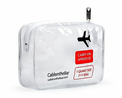 TSA Approved Clear Travel Toiletry Bag | Quart Sized with Zipper | Airport Ai...