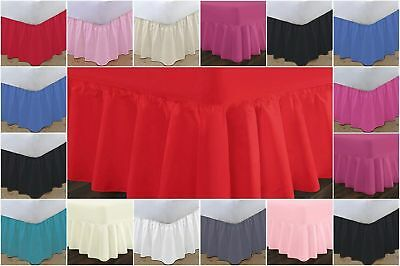 Frilled Valance Sheets / Bed-Base Covers Single Double King Sizes