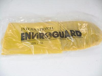 7pr EnviroGuard Yellow Latex Boot XL Hazmat Oil Cleanup Shoe Cover Lot of 7 Pair