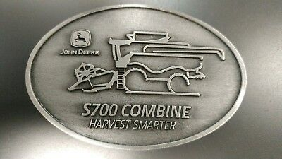 John Deere S700 Combine Pewter Belt Buckle Limited Edition New in Package