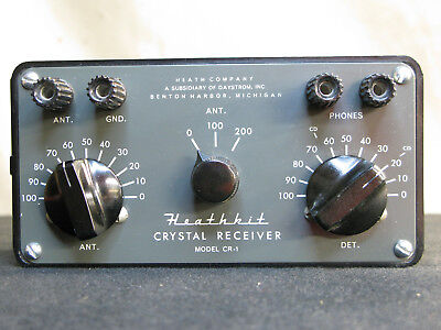 Heathkit Model CR-1 Crystal Radio Receiver Working in Excellent Condition