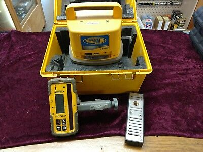 Trimble Spectra Precision LL500 Level With HL700 Receiver and Case MEGNETIC BASE