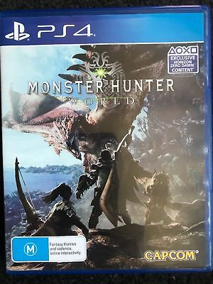 PlayStation 4 PS4 Game: Monster Hunter World ! LIKE NEW ! CHEAP!
