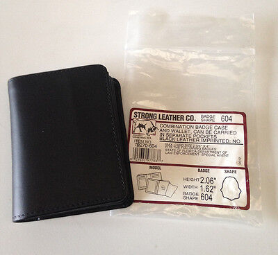 ~New Strong Leather Co 79270-604 Combination Badge Case + Wallet Shape 604 Fla
